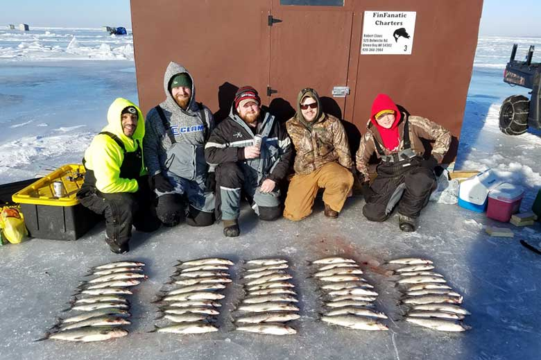 Ice Fishing with Green Bay Outfitters